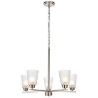 Biff 5 Light 24 inch Brushed Nickel Chandelier Ceiling Light