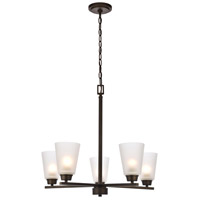 Biff 5 Light 24 inch Oil Rubbed Bronze Chandelier Ceiling Light