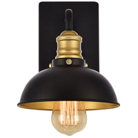 Anders 1 Light 7 inch Black and Brass Wall Sconce Wall Light