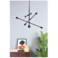 Living District LD8006D29BLA Axel 6 Light 29 inch Black Pendant Ceiling Light alternative photo thumbnail