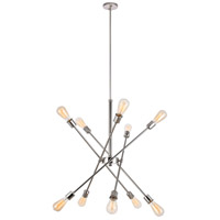 Living District LD8018D28PN Axel 10 Light 27 inch Polished Nickel Pendant Ceiling Light