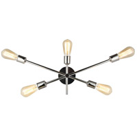 Living District LD8021W24PN Axel 5 Light 25 inch Polished Nickel Wall Sconce Wall Light
