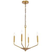 Living District LD8025D18BR Enzo 4 Light 18 inch Brass Pendant Ceiling Light