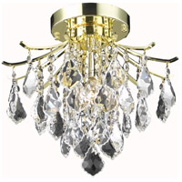 Living District LD8100F12G Amelia 3 Light 12 inch Gold Flush Mount Ceiling Light