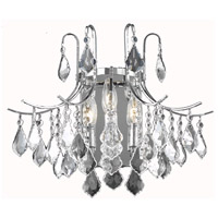 Living District LD8100W16C Amelia 3 Light 16 inch Chrome Wall Sconce Wall Light