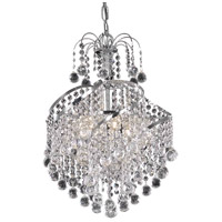 Living District LD8152D14C Avery 3 Light 14 inch Chrome Pendant Ceiling Light