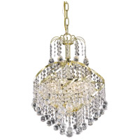 Living District LD8152D14G Avery 3 Light 14 inch Gold Pendant Ceiling Light