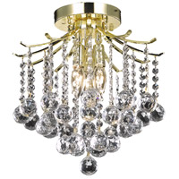 Living District LD8200F12G Amelia 3 Light 12 inch Gold Flush Mount Ceiling Light
