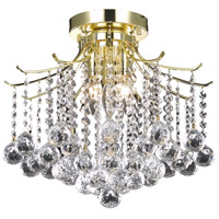Living District LD8200F17G Amelia 3 Light 16 inch Gold Flush Mount Ceiling Light