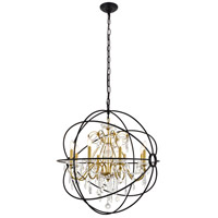 Living District LD8801D32GB Cordelia 8 Light 32 inch Black and Gold Pendant Ceiling Light