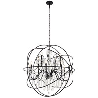 Cordelia 12 Light 44 inch black Pendant Ceiling Light