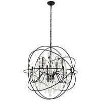 Living District LD8801D43BK Cordelia 12 Light 44 inch black Pendant Ceiling Light