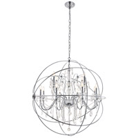 Cordelia 12 Light 44 inch Chrome Pendant Ceiling Light