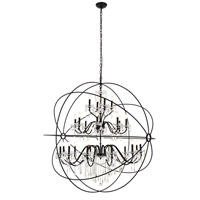 Living District LD8801D60BK Cordelia 24 Light 59 inch black Pendant Ceiling Light