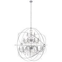 Living District LD8801D60C Cordelia 24 Light 59 inch Chrome Pendant Ceiling Light
