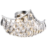 Living District LD9800F10C(872) Clara 4 Light 10 inch Chrome Flush Mount Ceiling Light