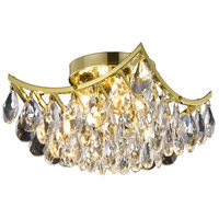 Living District LD9800F10G(872) Clara 4 Light 10 inch Gold Flush Mount Ceiling Light