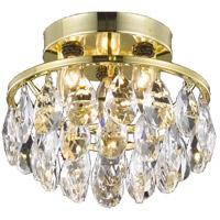 Living District LD9805F10G(872) Clara 3 Light 10 inch Gold Flush Mount Ceiling Light