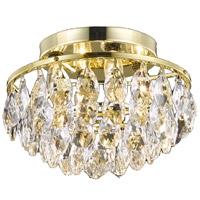 Living District LD9805F14G(872) Clara 4 Light 14 inch Gold Flush Mount Ceiling Light