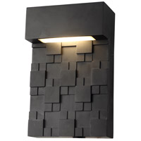 Living District LDOD1200 Keefe LED 10 inch Black Outdoor Wall Sconce