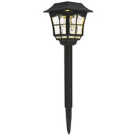 Living District LDOD3001-6PK Rhea 0.07 watt Black Outdoor Path Light Pack of 6