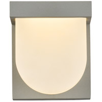 Living District LDOD4009S Raine 6 inch Silver Outdoor Wall Light