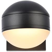 Living District LDOD4011BK Raine 5 inch Black Outdoor Wall Light