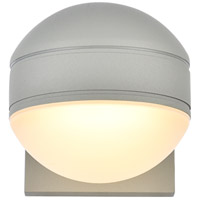 Living District LDOD4011S Raine 5 inch Silver Outdoor Wall Light