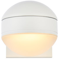 White Raine Outdoor Wall Lights