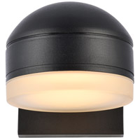 Living District LDOD4015BK Raine 5 inch Black Outdoor Wall Light
