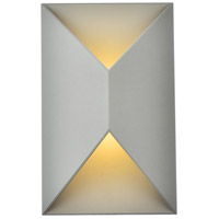 Living District LDOD4022S Raine 11 inch Silver Outdoor Wall Light