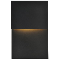 Living District LDOD4029BK Raine 11 inch Black Outdoor Wall Light