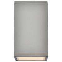 Living District LDOD4041S Raine 1 Light 8 inch Silver Outdoor Wall Light