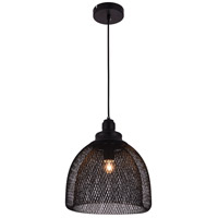 Living District LDPD2030 Warren 1 Light 11 inch Black Pendant Ceiling Light