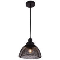 Living District LDPD2031 Warren 1 Light 10 inch Black Pendant Ceiling Light