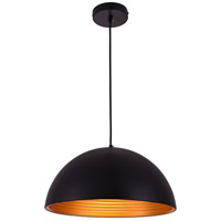 Living District LDPD2042 Circa 1 Light 16 inch Black Pendant Ceiling Light