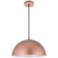 Living District LDPD2042HG Circa 1 Light 16 inch Honey Gold Pendant Ceiling Light