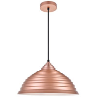 Living District LDPD2044HG Circa 1 Light 16 inch Honey Gold Pendant Ceiling Light