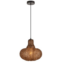 Living District LDPD2061 Finola 1 Light 12 inch Black and Coffee Pendant Ceiling Light