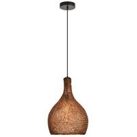 Living District LDPD2063 Finola 1 Light 13 inch Black and Coffee Pendant Ceiling Light