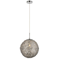 Living District LDPD2067 Lilou 1 Light 11 inch Chrome Pendant Ceiling Light