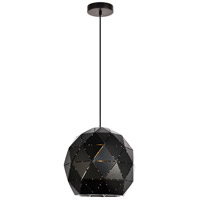 Living District LDPD2077 Arden 1 Light 12 inch Black Pendant Ceiling Light