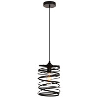 Living District LDPD2086 Hopper 1 Light 8 inch Black Pendant Ceiling Light