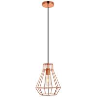 Living District LDPD2088 Jago 1 Light 9 inch Copper Pendant Ceiling Light