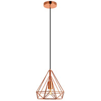 Living District LDPD2090 Jago 1 Light 10 inch Copper Pendant Ceiling Light