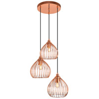 Living District LDPD2096 Sayer 3 Light 16 inch Copper Pendant Ceiling Light