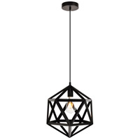 Living District LDPD2110 Redmond 1 Light 13 inch Black Pendant Ceiling Light