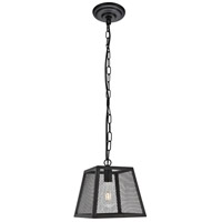 Living District LDPD3015 Talon 1 Light 10 inch Matte Black Pendant Ceiling Light