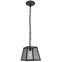 Living District LDPD3015 Talon 1 Light 10 inch Matte Black Pendant Ceiling Light