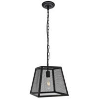 Living District LDPD3016 Talon 1 Light 12 inch Matte Black Pendant Ceiling Light